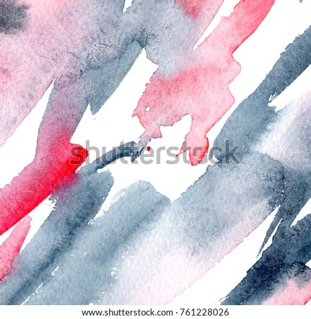 hand made watercolor wash texture / abstract artistic painted background #761228026