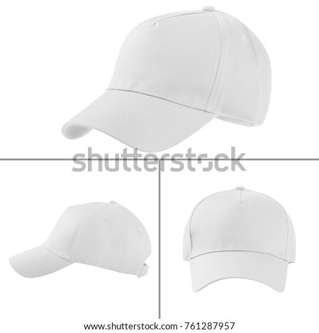 Group of the white fashion caps #761287957