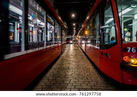 Red Trams of Bern #761297758
