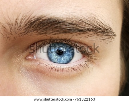 A beautiful insightful look man's eye. Close up shot #761322163