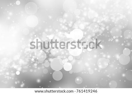 white blur abstract background. bokeh christmas blurred beautiful shiny Christmas lights #761419246