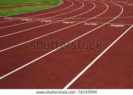 Runway of of athletics #76143904