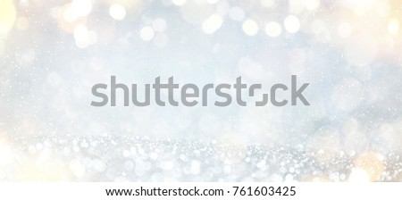 Blurred background with bokeh. Christmas and Happy New Year greeting card. #761603425