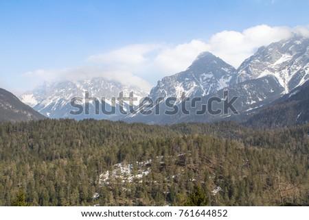 Zugspitze - alpine landscape, highest mountain in Germany #761644852