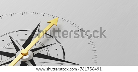 A Compass on a metal background with copy space Royalty-Free Stock Photo #761756491