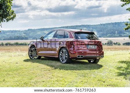 PRAGUE, THE CZECH REPUBLIC, 8. 10. 2017: New Audi SQ5, model year 2017 in Czech: exterior #761759263