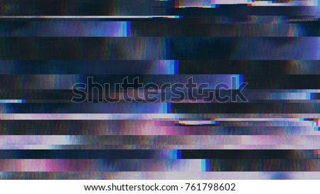 Unique Design Abstract Digital Pixel Noise Glitch Error Video Damage #761798602
