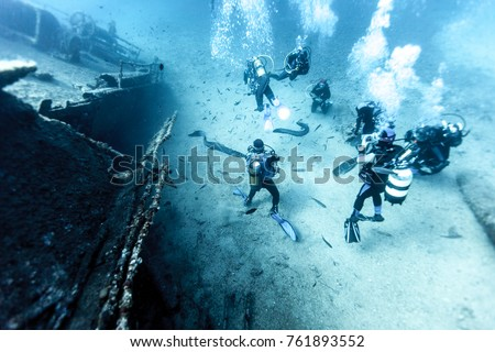 Wreck of a Cargo Ship, Vis, Croatia #761893552