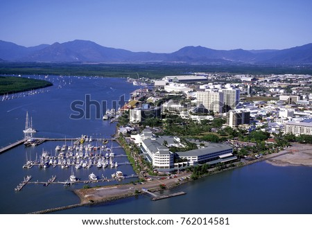 Aerial view of Cairns North Queensland.  australia #762014581
