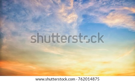 Twilight sky background with Colorful sky in twilight background #762014875