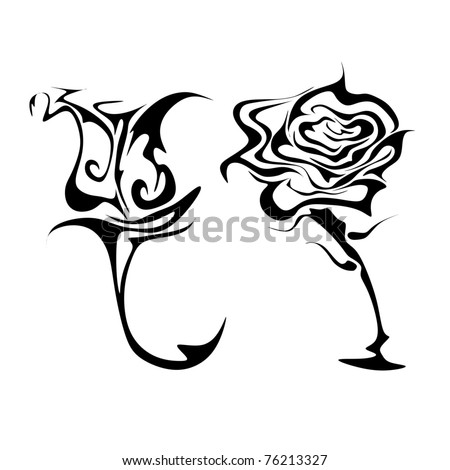 abstract roses vector #76213327