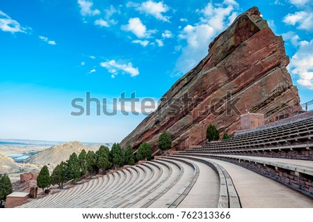 Historic Red Rocks Amphitheater near Denver, Colorado #762313366