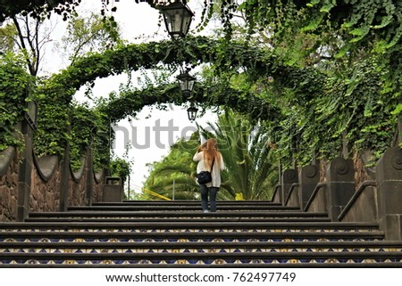 Walkway in Mexico #762497749