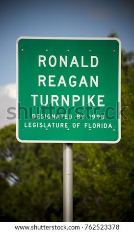 Ronald Reagan Highway Sign