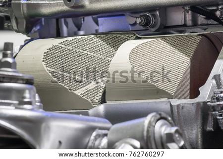 Closeup catalytic converter #762760297