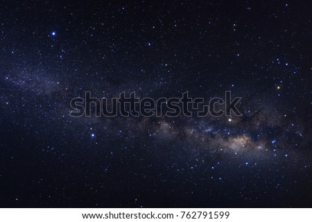 Milky way galaxy with stars and space dust in the universe #762791599