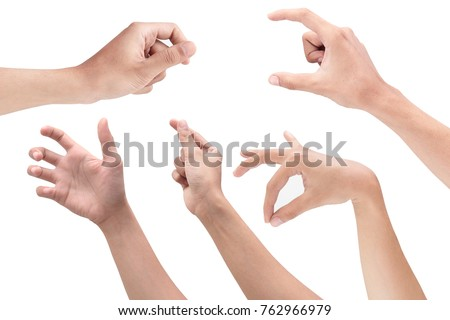 position of the hand when holding an object Royalty-Free Stock Photo #762966979