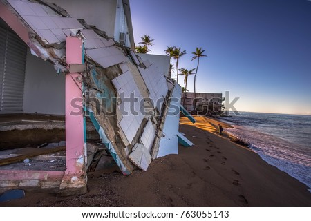 Beach house in Puerto Rico after Hurricane Maria