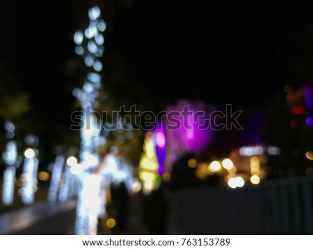 ?Bokeh background from light decoration for Christmas and new year eve. #763153789