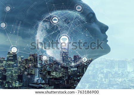 AI(Artificial Intelligence) concept. Royalty-Free Stock Photo #763186900