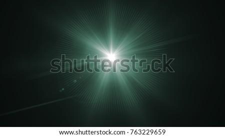 Digital lens Flare , lens flare, light leaks , Abstract overlays background. #763229659
