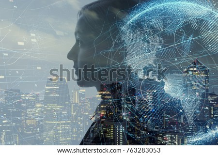 AI (Artificial Intelligence) concept. Royalty-Free Stock Photo #763283053