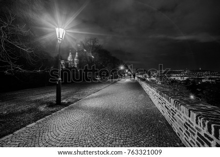 Scenic view of historical center Prague #763321009