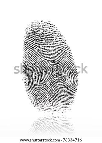 A finger print isolated against a white background #76334716