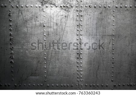 Metal background with ruvets