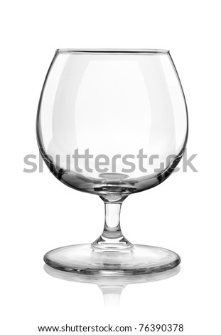 Brandy glass isolated on white background #76390378