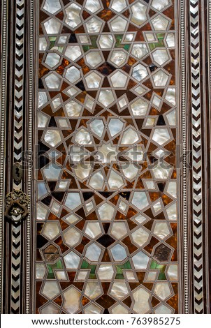 Ottoman art example of Mother of Pearl inlays #763985275