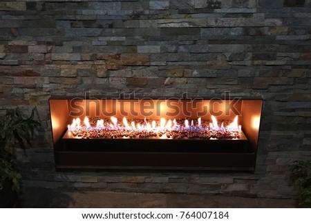 Backyard fireplace in the City #764007184
