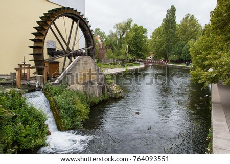 Mill Pond in Tapolca, Hungary #764093551