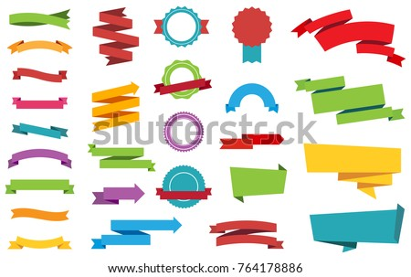 This image is a vector file representing Labels Stickers Banners Tag vector design collection. Royalty-Free Stock Photo #764178886