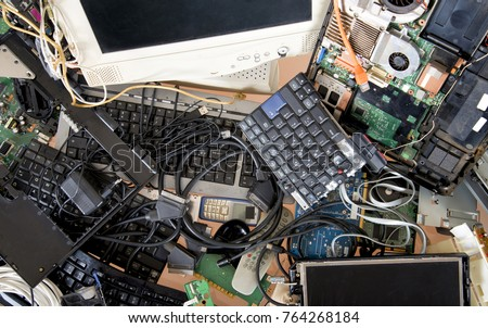 Old computer and electronic waste. Recycling concept #764268184