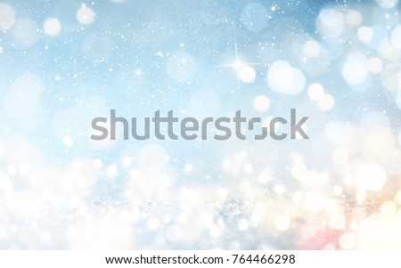 Blurred bokeh light background, Christmas and New Year holidays background