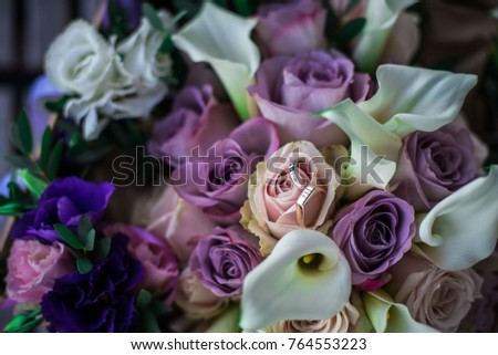 beautiful bouquet of colorful roses #764553223