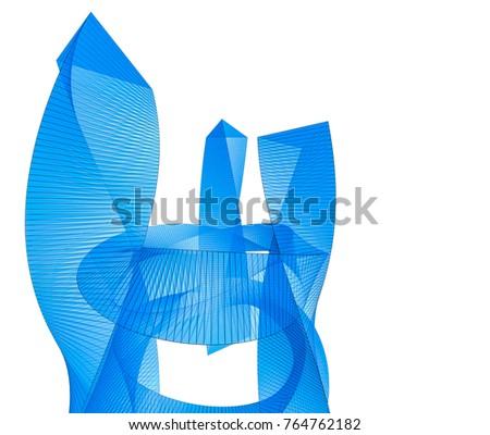 architecture 3d illustration #764762182