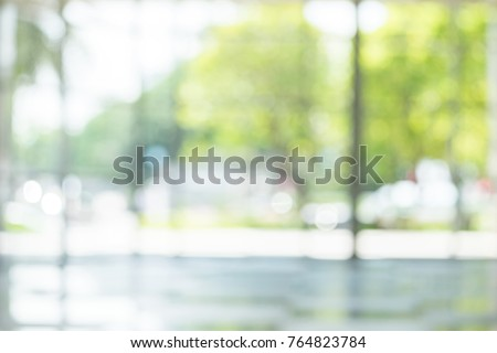 Atmosphere around office blurred for background. Royalty-Free Stock Photo #764823784