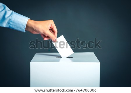 Voting box and election image #764908306