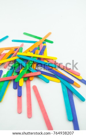 colorful wood ice-cream stick #764938207