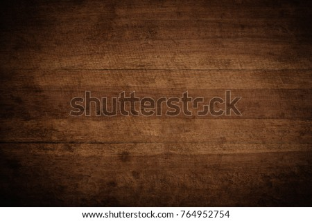 Old grunge dark textured wooden background,The surface of the old brown wood texture #764952754