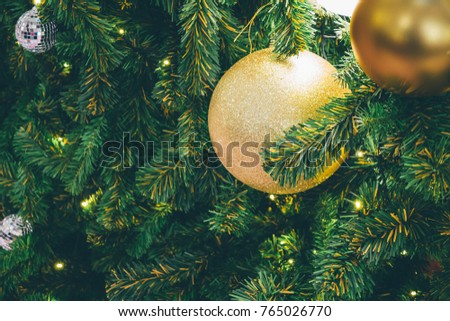 Decorated Christmas tree background #765026770