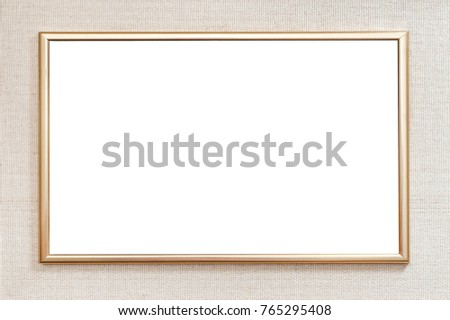 Passepartout material frame with metallic frame in the middle with empty space