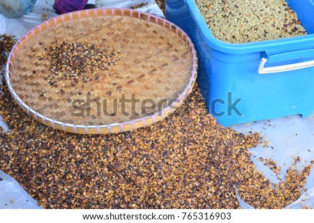 Coffee and Coffee beans drying, Process coffee beans. #765316903