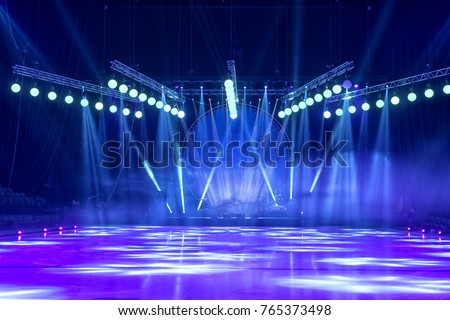 Light from the scene, a rock concert Royalty-Free Stock Photo #765373498