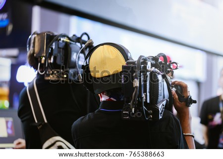 Videographer professional according to the job. #765388663