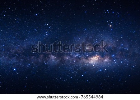 Milky way galaxy with stars and space dust in the universe Royalty-Free Stock Photo #765544984