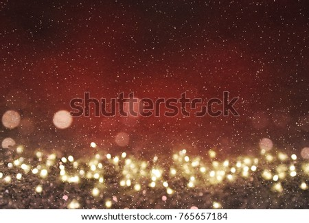Blurred bokeh light background, Christmas and New Year holidays background #765657184