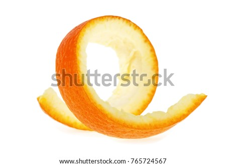 Skin of orange isolated on a white background #765724567